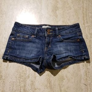 Areopostale Lowrise Short Jean Shorts w/copper but